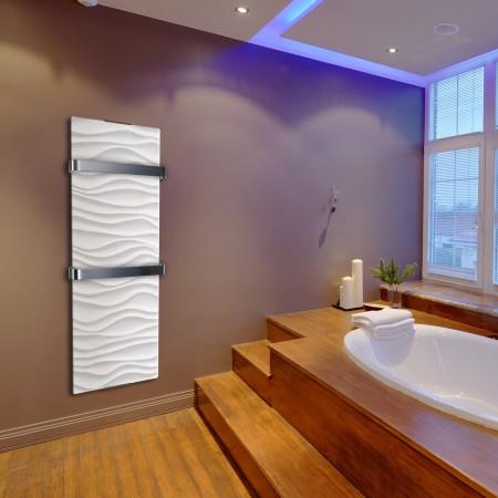 Un s che serviette design pour une salle de bain plus - Puissance seche serviette salle de bain ...